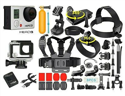 GoPro HERO 3 Edition Action Camera + 40PCS Accessory + Waterproof Case 3 colors
