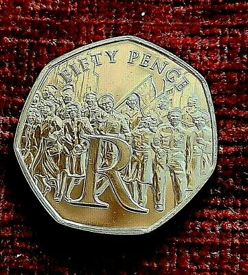 2020 Isle Of Man VICTORY 50p piece  VE DAY Letter  R UNC from a sealed bag 🇮🇲