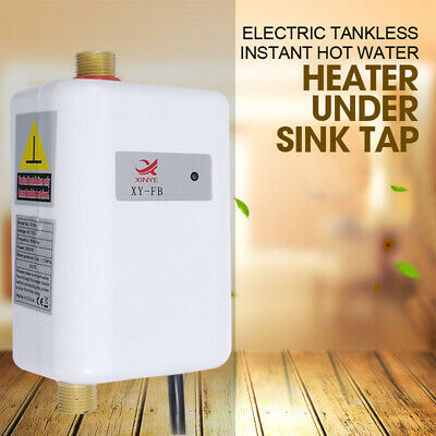 25℃-40℃ Electric Tankless Instant Hot Water Heater Bathroom Kitchen Home New