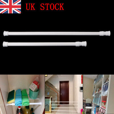 Spring Load Extendable Telescopic Net Voile Tension Curtain Rail Pole Rod thu