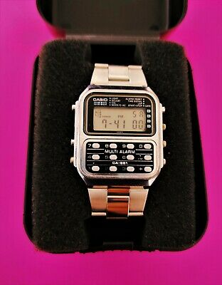 Casio #DBC611G 1D Men's Gold Tone 25 Memory Calculator Databank Watch