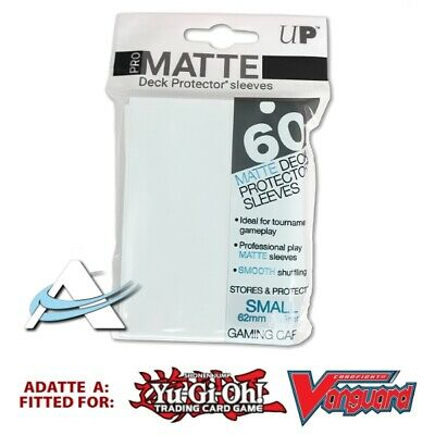 60 Bustine Protettive NEW Ultra PRO MATTE Small Size Sleeves • Trasparenti Clear