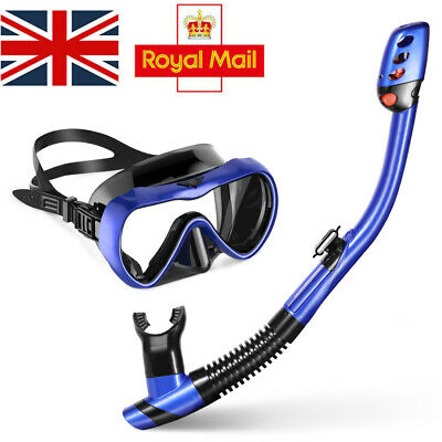 MOVTOTOP Snorkel Mask Set Scuba Diving Swimming Underwater Anti Fog for Adults
