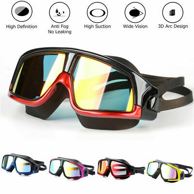 Swimming Goggles Diving Mask UV Protection Anti-Fog Adjustable Adults Men Women