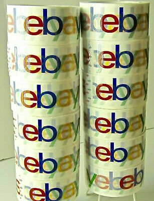 eBay Branded Extra-Strong Parcel Packing Packaging 4-Colour Tape GENUINE ARTICLE