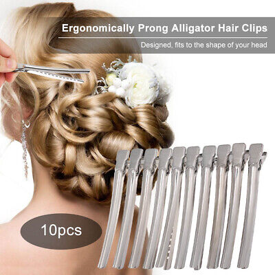 10pcs Flat Metal Single Prong Alligator Hair Clips Barrette For Bows DIY Hairpin
