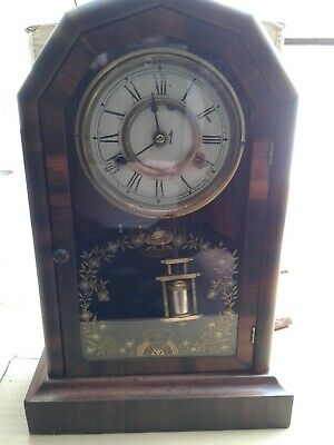 Antique Jerome&Co mantle clock 8 day Duchess new haven movement early 1900