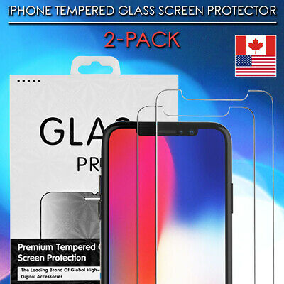 Tempered Glass Screen Protector For iPhone - 11, Pro, Max, SE, XR, Premium Cover
