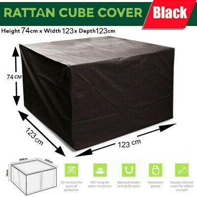 Heavy Duty Waterproof Patio/Garden Furniture Cover Outdoor Large Rattan Table
