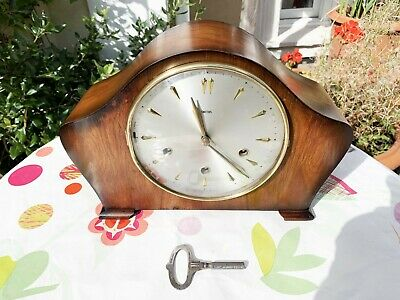 Restored Vintage 1956-60 Smiths Floating Balance 8-Day Westminster Chiming Clock