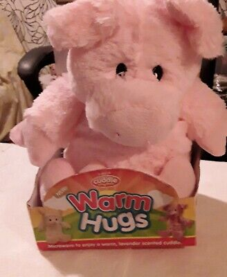 """WARM HUGS by CURDLES KINGDOM..MICROWAVEABLE LAVENDER SENTED SOFT TOY""""PIGGY"""""""