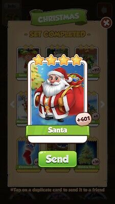25 Santa coin master card Fast Delivery