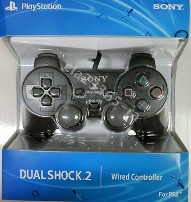 SONY PS2 Wired Dualshock 2 Controller BLACK ✅ BRAND NEW ✅