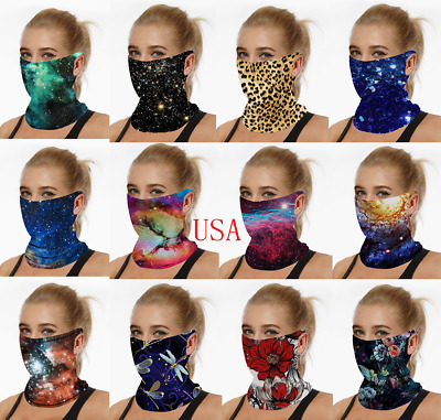 Bandana Face Mask Elastic Headband Covering Cooling Scarf Neck Gaiter Breathable