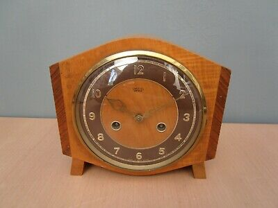 Vintage Smiths Enfield Wooden Mantle Clock
