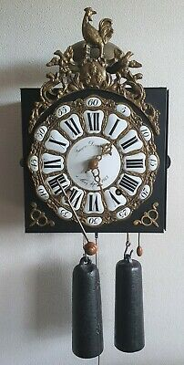 Comtoise Clock Repeat Wire Pendulum Rope Weights Key Bell Gong Silence