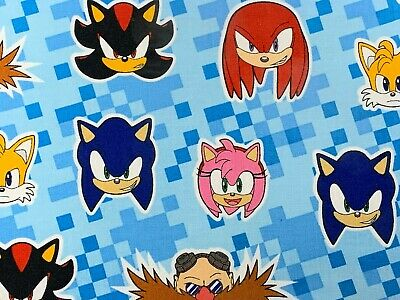 Sonic The Hedgehog Reusable Handmade Face Mask W Filter Pocket Triple Layer 10 99 Picclick