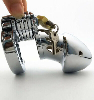 Stainless Steel Adjustable Male Chastity Lock Device Bird Cage Fixing Ring