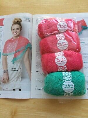 Knitting Kit For Lace Shawl And Other Patterns To Follow