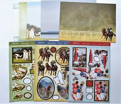 Hunkydory Clearout Male Sports Decoupage & Card Kit