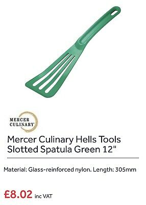 """Mercer Culinary Hell""""s Tools 12"""" Green Spatula Takes High Temperatures AMAZING"""