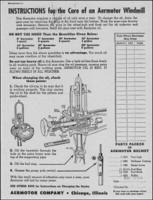 new reprint 1940s Assembly Instructions for WINCHARGER Model 611 WiNDMiLLS
