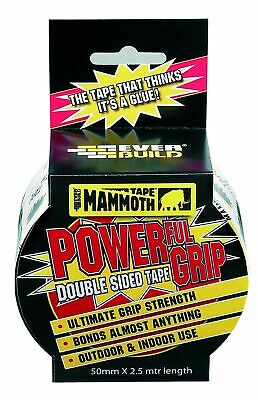 Mammoth Powerful Grip Tape - Re-enforced double-sided tape - 50 mm x 2.5 m - ...