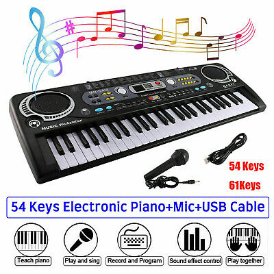 Musical Keyboard Piano 54/61keys Electronic Electric Digital Beginner Adult Gift