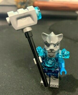Lego Minifigure Legends of Chima Stealthor Fire vs Ice Minfig Blue 70146 LOC078