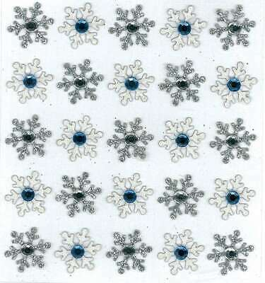 JOLEE/'S BOUTIQUE SILVER SNOWFLAKES DIMENSIONAL STICKERS BNIP
