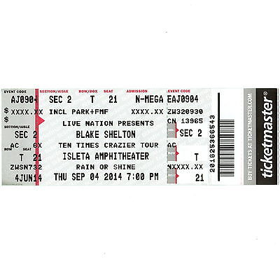 blake shelton winstar casino tickets