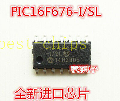 Details about  /50 pcs//lot IC PIC16F676-I//SL Flash-Based 8-Bit CMOS Microcontroller 14-Pin