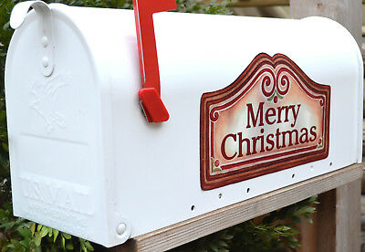 Mailbox Magnet Partial Cover Christmas Candy Cane Oval Personalized Adress Holiday Christmas Decorations Not a Decal or Mailbox Cover Car
