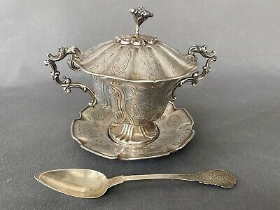 French silver mustard jug , moutarde argent pot 925