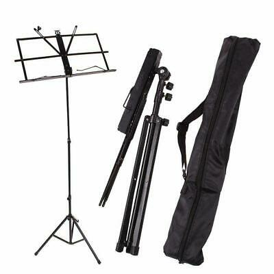 Glarry Handy Portable Adjustable Music Stand Folding Heavy Duty With Carry Bag