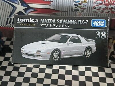 TOMICA PREMIUM 38 MAZDA SAVANNA RX-7 1//61 TOMY 2020 AUG NEW DIECAST CAR White