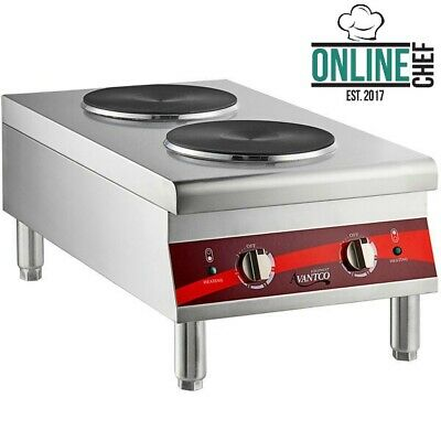 Dual Solid French Style Burner Countertop Electric Range 208/240V 3000 4000W