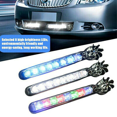 8LED DRL Daylight Wind Energy No Need External Power Cars Daytime Running Lights