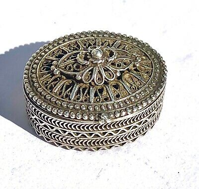 Free Gift w// Any Purchase Decorated Ghoran box Silver color with Gem-