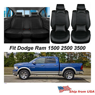 , TAN Second Row 40//60 Split OASIS AUTO 2010-2018 2500/&3500 |Custom Fit PU Leather Seat Covers Full Set Compatible with Ram Pick-up Truck Crew and Double Cab 2009-2018 Ram 1500 2009-2018