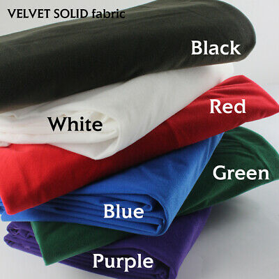 """Velvet Fabric 58"""" W by The Yard for Sewing Apparel Costumes Cloth Craft Projects"""
