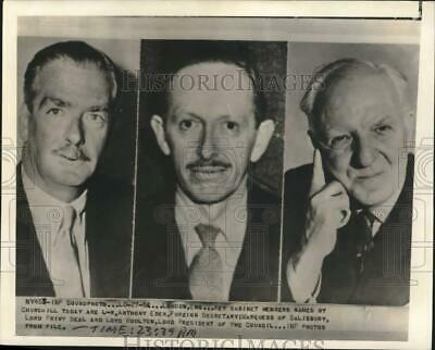 1951 Press Photo Key British Cabinet Members Selected by Winston Churchill
