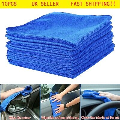 10x LARGE MICROFIBRE CLEANING AUTO CAR DETAILING SOFT CLOTHS WASH TOWEL DUSTER (