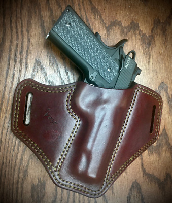 Hickory NC Details about  /1911 Commander OWB Custom Leather Paddle Holster by ETW Holsters
