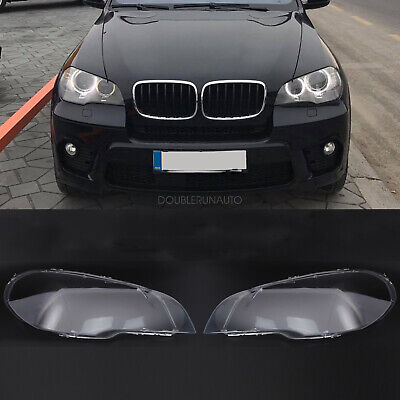 Front Headlight Headlamp Washer Nozzle Cover For BMW X5 X6 E70 E71 2008-14 Pair