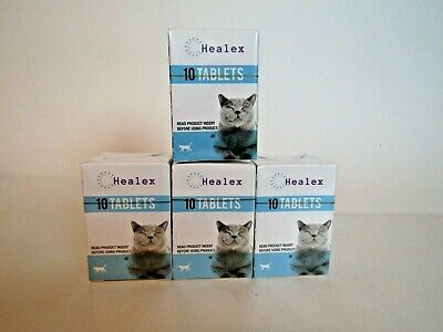 NEW SEALED Healex Cat Dewormer Tablets, 10 Tablets, lot of 4 boxes Exp 4/3/22