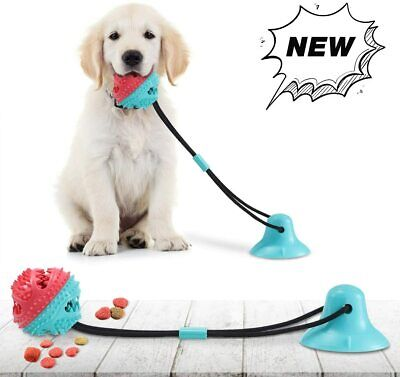 Dog Chew Toys for Aggressive Chewers Suction Cup Dog Chewing Toy Dog Rope Ball