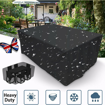 Waterproof Garden Patio Furniture Cover Rattan Table Cube Seat Covers Outdoor-UK