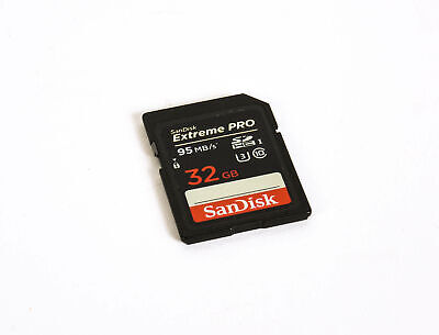 Sandisk 32GB 95 MB/S Class 10 UHS 3 Extreme Pro SDHC Memory Card *EX*