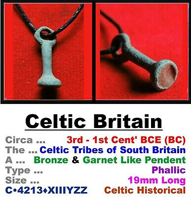 Artifact • Celtic Britain • Bronze & Garnet Pendent • 1st-4th Cent CE • C•4213•